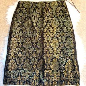 Gold metallic Worthington skirt